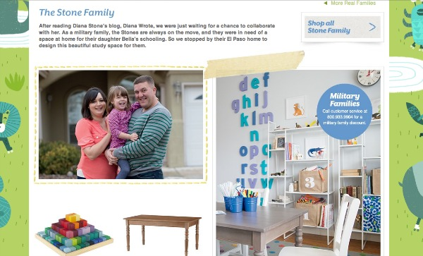 Land of Nod Real Families