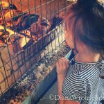 Bella in Half Moon Bay Feed Store with the baby chicks and ducks. Oh yes. I wanted every single one.