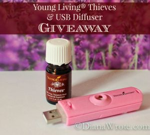 Young Living Thieves and USB Diffuser Giveaway