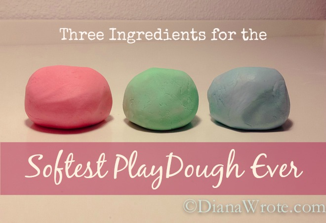Three Ingredients for the Softest PlayDough Ever