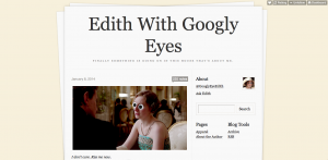 edith with googly eyes